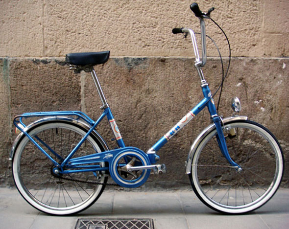 BH plegable azul