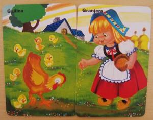 Granjera gallinas cartas