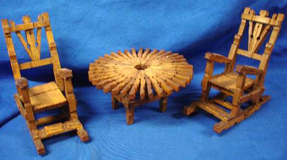 Mecedora pinzas madera