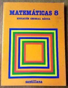 Libro mate 8 EGB santillana