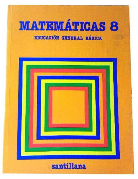 Libro matematicas 8 EGB Santillana