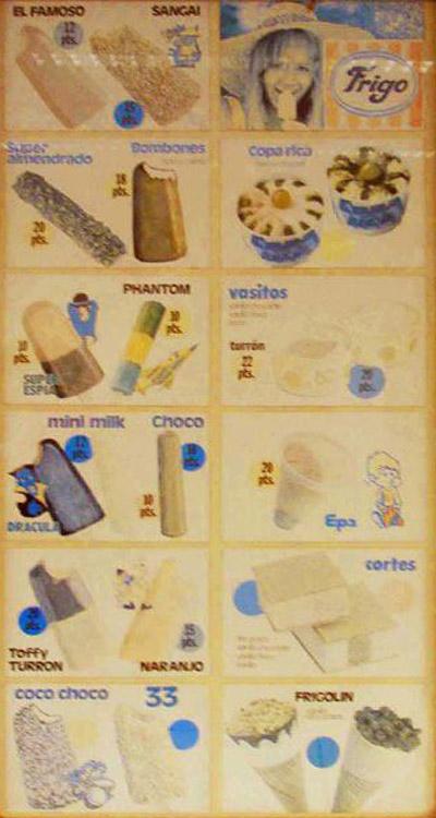 cartel helados 1977