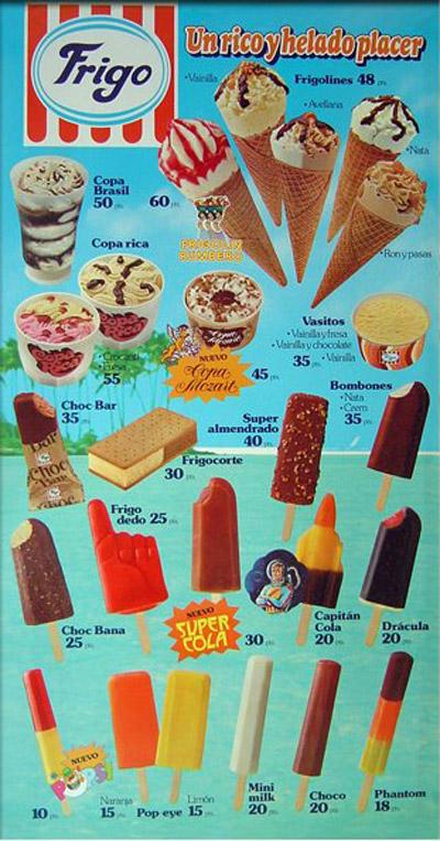 cartel helados 1981